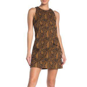 NWT - Joie Tonie snake-jacquard mini dress